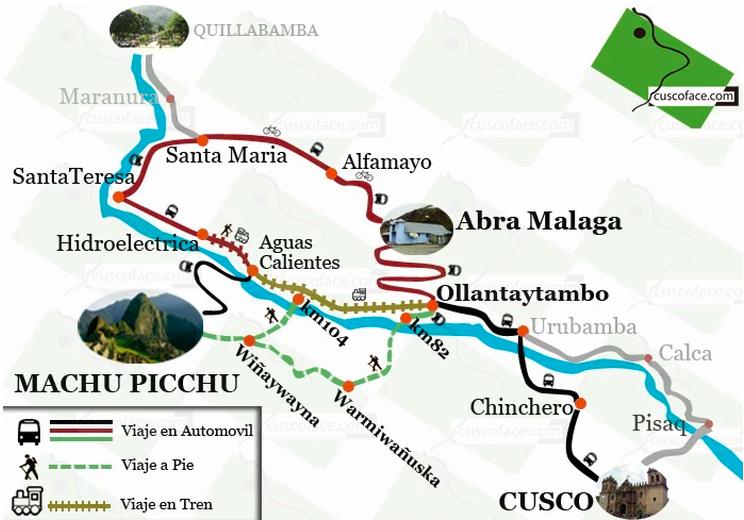 Rutas alternativas para viajar al Machu Picchu.